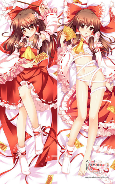 New  Hakurei Reimu - Touhou Project    Anime Dakimakura Japanese Pillow Cover MGF 7044 - Anime Dakimakura Pillow Shop | Fast, Free Shipping, Dakimakura Pillow & Cover shop, pillow For sale, Dakimakura Japan Store, Buy Custom Hugging Pillow Cover - 1