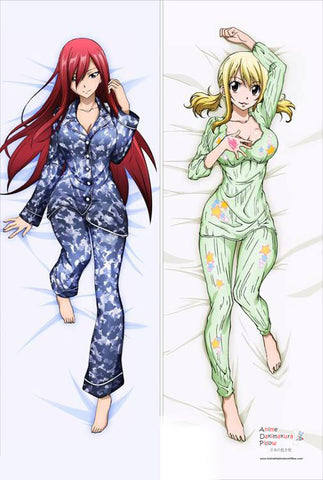 New Fairy Tail Erza Scarlet and Lucy Heartphilia Anime Dakimakura Japanese Pillow Cover MGF2016 - Anime Dakimakura Pillow Shop | Fast, Free Shipping, Dakimakura Pillow & Cover shop, pillow For sale, Dakimakura Japan Store, Buy Custom Hugging Pillow Cover - 1