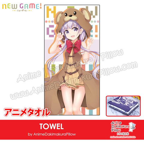 New-Suzukaze-Aoba-New-Game!-Japanese-Anime-Soft-Quick-Dry-and-Highly-Absorbent-Towel-ADP-MJ170124