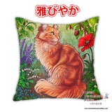 New Garden Cat Anime Dakimakura Japanese Pillow Cover Custom Designer Maquenda ADC320 - Anime Dakimakura Pillow Shop | Fast, Free Shipping, Dakimakura Pillow & Cover shop, pillow For sale, Dakimakura Japan Store, Buy Custom Hugging Pillow Cover - 1