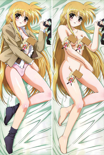 New Magical Girl Lyrical Nanoha Anime Dakimakura Japanese Pillow Cover NY12 - Anime Dakimakura Pillow Shop | Fast, Free Shipping, Dakimakura Pillow & Cover shop, pillow For sale, Dakimakura Japan Store, Buy Custom Hugging Pillow Cover - 1