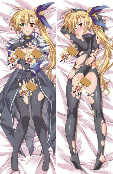 New Magical Girl Lyrical Nanoha Anime Dakimakura Japanese Pillow Cover NY99 - Anime Dakimakura Pillow Shop | Fast, Free Shipping, Dakimakura Pillow & Cover shop, pillow For sale, Dakimakura Japan Store, Buy Custom Hugging Pillow Cover - 1