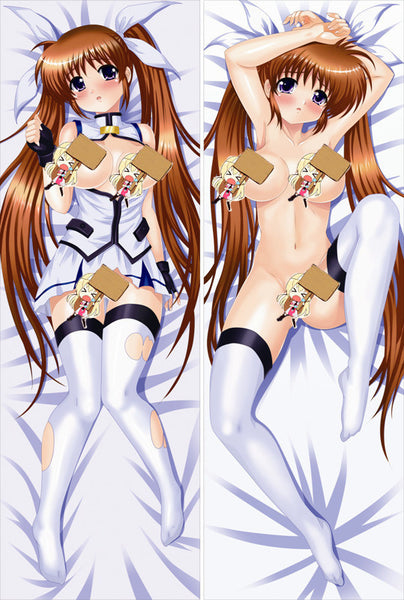 New Magical Girl Lyrical Nanoha Anime Dakimakura Japanese Pillow Cover NY146 - Anime Dakimakura Pillow Shop | Fast, Free Shipping, Dakimakura Pillow & Cover shop, pillow For sale, Dakimakura Japan Store, Buy Custom Hugging Pillow Cover - 1