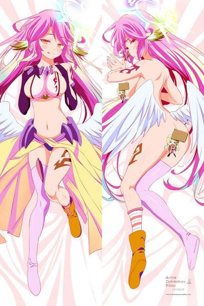 New No Game No Life Jibril Anime Dakimakura Japanese Pillow Cover H2831