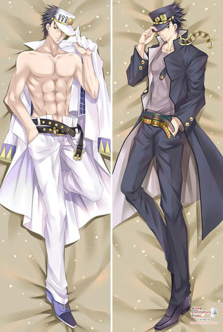 New New JoJo's Bizarre Adventure Jotaro Kujo Anime Dakimakura Japanese Pillow Cover MGF-55004 - Anime Dakimakura Pillow Shop | Fast, Free Shipping, Dakimakura Pillow & Cover shop, pillow For sale, Dakimakura Japan Store, Buy Custom Hugging Pillow Cover - 1