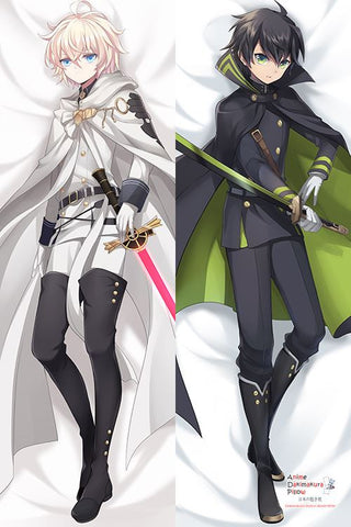 New Seraph of the End Anime Male Mikaela Hyakuya and Yuichiro Hyakuya Dakimakura Japanese Pillow Cover H2904 - Anime Dakimakura Pillow Shop | Fast, Free Shipping, Dakimakura Pillow & Cover shop, pillow For sale, Dakimakura Japan Store, Buy Custom Hugging Pillow Cover - 1