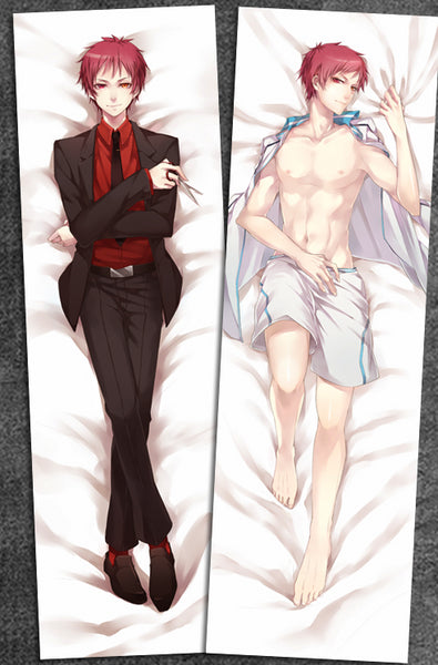 New  Seijuro Akashi Kuroko no Basuke Male Anime Dakimakura Japanese Pillow Cover Limited Edition - Anime Dakimakura Pillow Shop | Fast, Free Shipping, Dakimakura Pillow & Cover shop, pillow For sale, Dakimakura Japan Store, Buy Custom Hugging Pillow Cover - 1