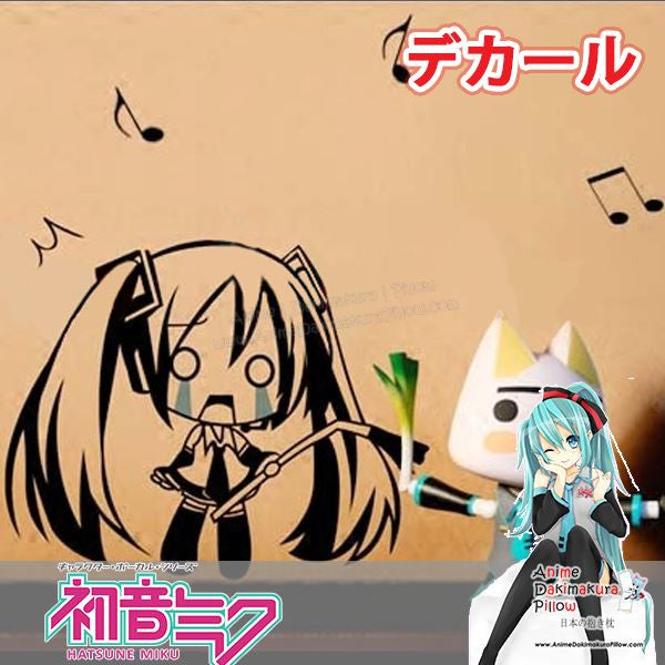 New Hatsune Miku - Vocaloid Anime Wall Decal Japanese Waterproof Vinyl Sticker OSK012