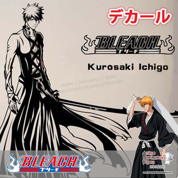 New Kurosaki Ichigo - Bleach Anime Wall Decal Japanese Waterproof Vinyl Sticker OSK029