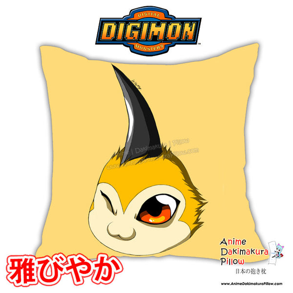 New Tsunomon - Digimon Anime Dakimakura Square Pillow Cover Custom Designer OraSora ADC154