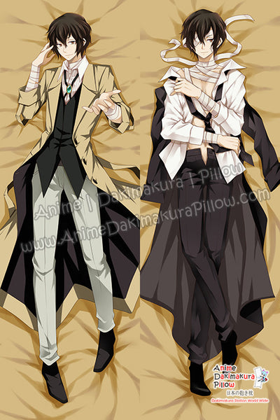 New Osamu Dazai - Bungo Stray Dogs Anime Dakimakura Japanese Hugging Body Pillow Cover H09879 - Anime Dakimakura Pillow Shop | Fast, Free Shipping, Dakimakura Pillow & Cover shop, pillow For sale, Dakimakura Japan Store, Buy Custom Hugging Pillow Cover - 1