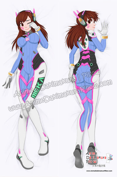 New Overwatch - D.Va Anime Dakimakura Japanese Pillow Cover Custom Designer Audrey Flores ADC699