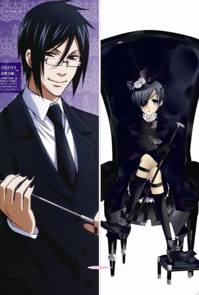 New Black Butler Anime Dakimakura Japanese Pillow Cover BB1 Male - Anime Dakimakura Pillow Shop | Fast, Free Shipping, Dakimakura Pillow & Cover shop, pillow For sale, Dakimakura Japan Store, Buy Custom Hugging Pillow Cover - 1