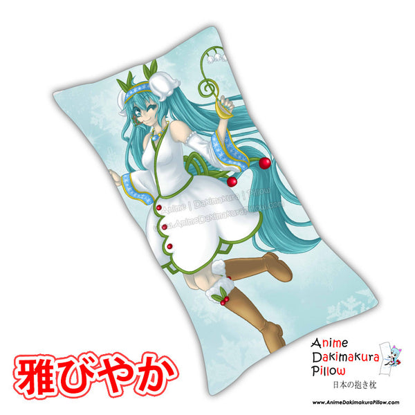 New Winter Hatsune Miku - Vocaloid Anime Dakimakura Rectangle Pillow Cover Custom Designer Reika Miyuki ADC224