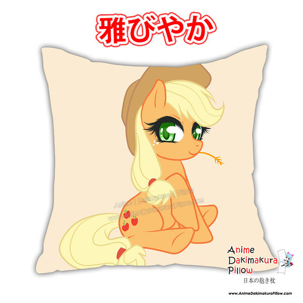 New Applejack & Cadance - My Little Po MLP Anime Dakimakura Square Pillow Cover Custom Designer Reika Miyuki ADC223