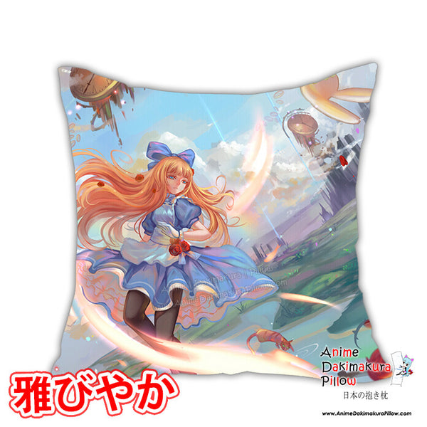 New Alice in Wonderland Anime Dakimakura Square Pillow Cover Custom Designer Rokudo-Aurora ADC132