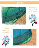 New Hatsune Miku - Vocaloid Anime Plush Carpet Doormat Home Decor Non-slip Bath Floor Mat H110008