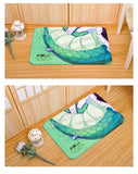 New Rin Onigawara - Armed Girl's Machiavellism Anime Plush Carpet Doormat Home Decor Non-slip Bath Floor Mat H110050