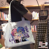 New-Ako-Tamaki-And-You-Thought-There-Is-Never-a-Girl-Online-Anime-Natural-Canvas-Reusable-Environmental-Heavy-Duty-Shopping-Tote-Bag-H150002