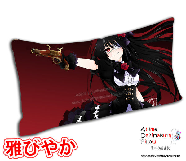 New Kurumi Tokisaki - Date a Live Anime Dakimakura Rectangle Pillow Cover Custom Designer Scyllarhia ADC230 - Anime Dakimakura Pillow Shop | Fast, Free Shipping, Dakimakura Pillow & Cover shop, pillow For sale, Dakimakura Japan Store, Buy Custom Hugging Pillow Cover - 1