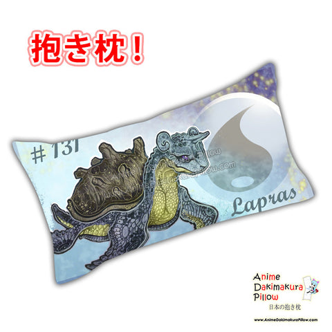 New Lapras - Pokemon Anime Dakimakura Japanese Rectangle Pillow Cover Custom Designer Shon2 ADC627 - Anime Dakimakura Pillow Shop | Fast, Free Shipping, Dakimakura Pillow & Cover shop, pillow For sale, Dakimakura Japan Store, Buy Custom Hugging Pillow Cover - 1