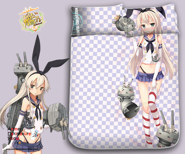 New Shimakaze Kai - Kantai Collection Japanese Anime Bed Blanket or Duvet Cover with Pillow Covers Blanket 3