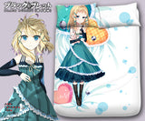 New Tina Sprout - Black Bullet Japanese Anime Bed Blanket or Duvet Cover with Pillow Covers Blanket 2 - Anime Dakimakura Pillow Shop | Fast, Free Shipping, Dakimakura Pillow & Cover shop, pillow For sale, Dakimakura Japan Store, Buy Custom Hugging Pillow Cover - 1