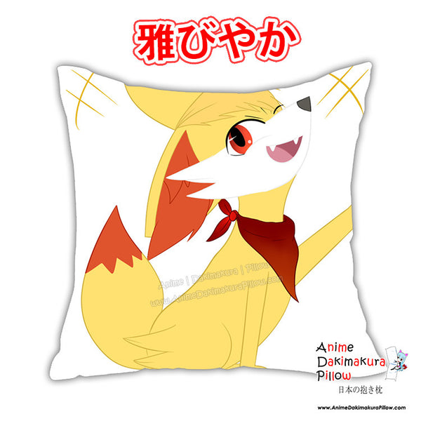 New Fennekin Anime Dakimakura Square Japanese Pillow Cover Custom Designer Wolfgirl1 ADC377