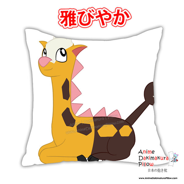 New Girafarig Anime Dakimakura Square Japanese Pillow Cover Custom Designer Wolfgirl1 ADC379 - Anime Dakimakura Pillow Shop | Fast, Free Shipping, Dakimakura Pillow & Cover shop, pillow For sale, Dakimakura Japan Store, Buy Custom Hugging Pillow Cover - 1