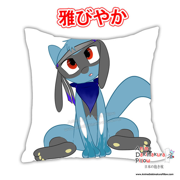 New Riolu Anime Dakimakura Square Japanese Pillow Cover Custom Designer Wolfgirl1 ADC380