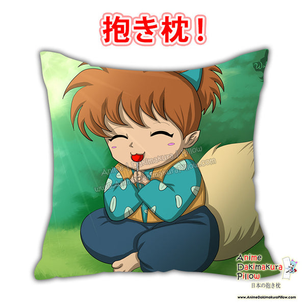 New Shippo - Inuyasha Anime Dakimakura Japanese Square Pillow Cover Custom Designer Fox Mewmew ADC674