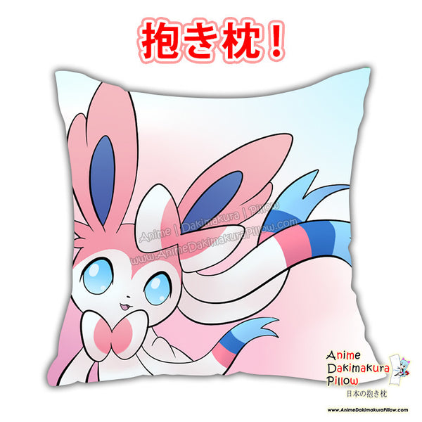 New Sylveon - Pokemon Anime Dakimakura Japanese Square Pillow Cover Custom Designer Fox Mewmew ADC675