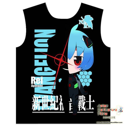 New Rei - Evangelion Trending Anime Print Sleeveless Summer Shirt MGF-YF031 - Anime Dakimakura Pillow Shop | Fast, Free Shipping, Dakimakura Pillow & Cover shop, pillow For sale, Dakimakura Japan Store, Buy Custom Hugging Pillow Cover - 1