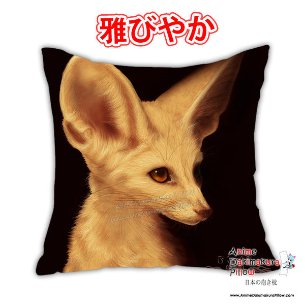 New Fennec Fox Anime Dakimakura Square Japanese Pillow Cover Custom Designer Ykoriana ADC387