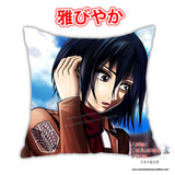 New Mikasa Ackerman - Attack On Titan Anime Dakimakura Japanese Square Pillow Cover Custom Designer YukiRichan ADC329 - Anime Dakimakura Pillow Shop | Fast, Free Shipping, Dakimakura Pillow & Cover shop, pillow For sale, Dakimakura Japan Store, Buy Custom Hugging Pillow Cover - 1