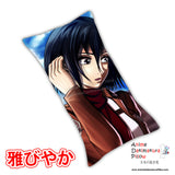 New Mikasa Ackerman - Attack on Titan Anime Dakimakura Japanese Pillow Cover Custom Designer YukiRichan ADC328 - Anime Dakimakura Pillow Shop | Fast, Free Shipping, Dakimakura Pillow & Cover shop, pillow For sale, Dakimakura Japan Store, Buy Custom Hugging Pillow Cover - 1