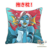 New Sexy Blue Sea Creature with Resd Hair Anime Dakimakura Square Pillow Cover Custom Designer Furlana ADC719 - Anime Dakimakura Pillow Shop | Fast, Free Shipping, Dakimakura Pillow & Cover shop, pillow For sale, Dakimakura Japan Store, Buy Custom Hugging Pillow Cover - 2