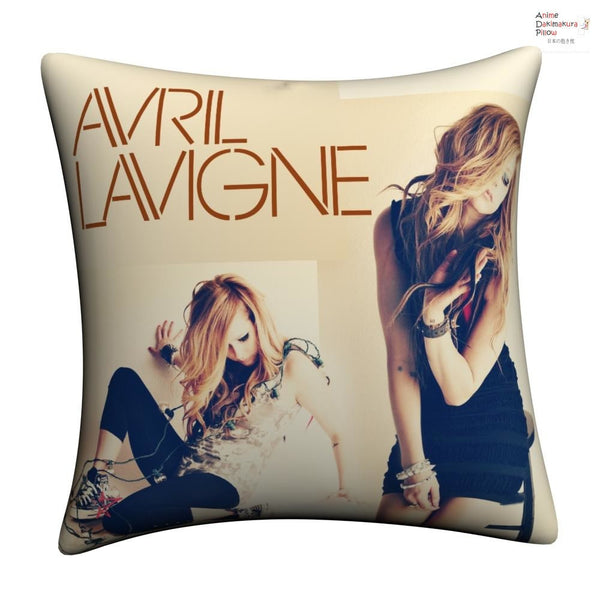 New Avril Lavigne Throw Pillow cushion pillowcases cover5 - Anime Dakimakura Pillow Shop | Fast, Free Shipping, Dakimakura Pillow & Cover shop, pillow For sale, Dakimakura Japan Store, Buy Custom Hugging Pillow Cover - 1