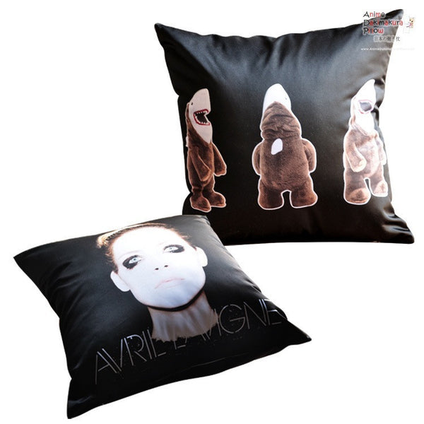 New Avril Lavigne Throw Pillow cushion pillowcases cover6 - Anime Dakimakura Pillow Shop | Fast, Free Shipping, Dakimakura Pillow & Cover shop, pillow For sale, Dakimakura Japan Store, Buy Custom Hugging Pillow Cover - 1