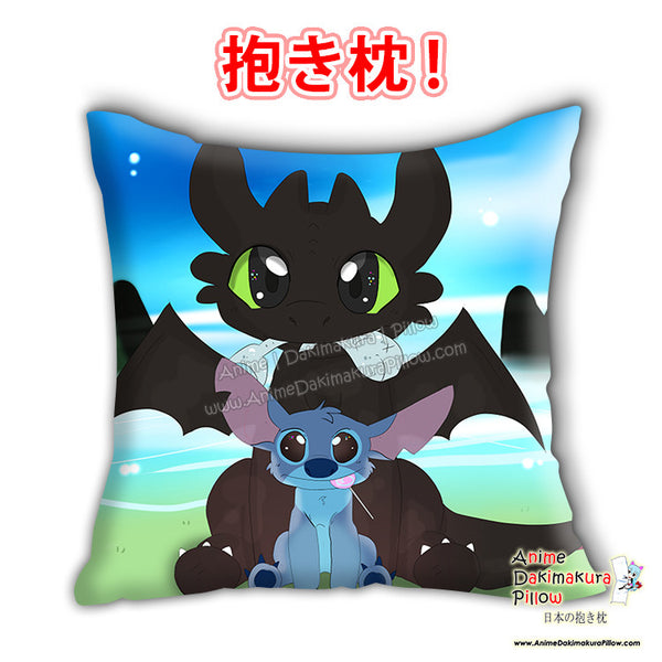 New Toothls Stichh Anime Dakimakura Japanese Square Pillow Cover Custom Designer Carina Knutson - 2 ADC667 - Anime Dakimakura Pillow Shop | Fast, Free Shipping, Dakimakura Pillow & Cover shop, pillow For sale, Dakimakura Japan Store, Buy Custom Hugging Pillow Cover - 1