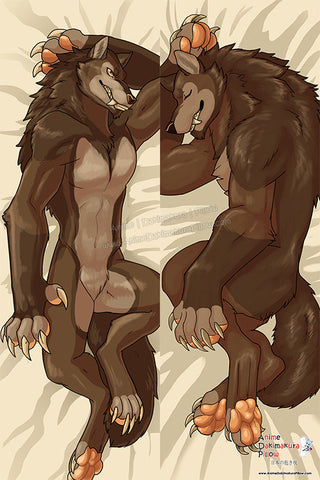 New Werewolf Male Anime Dakimakura Japanese Pillow Cover Custom Designer InkFang ADC284 - Anime Dakimakura Pillow Shop | Fast, Free Shipping, Dakimakura Pillow & Cover shop, pillow For sale, Dakimakura Japan Store, Buy Custom Hugging Pillow Cover - 1