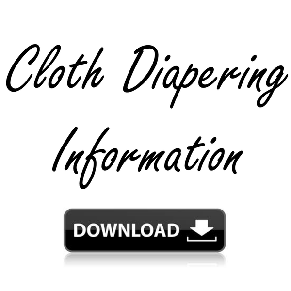 Cloth Diapering Digital Download