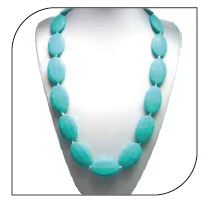 11000|Turquoise Silicone Nursing Necklace/{31in}