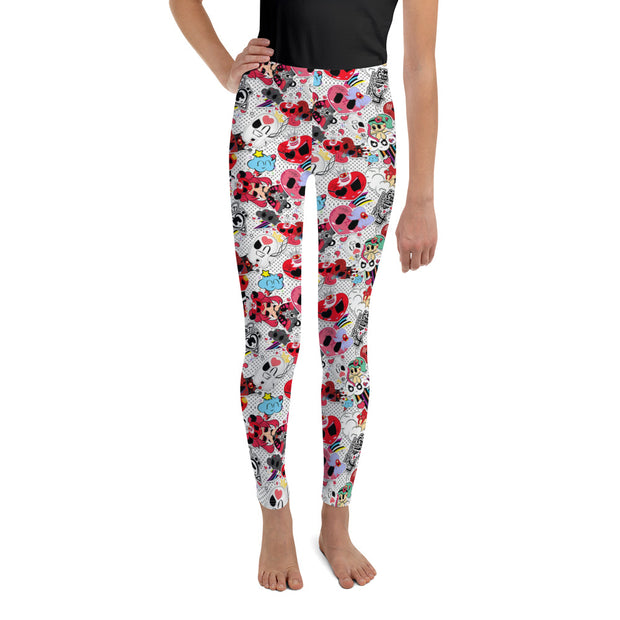 Sticker Print Leggings-Teen