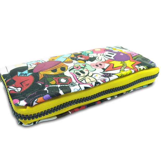 Character Splash Leather Zip Wallet