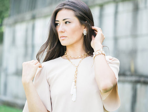 How to Wear This Tassel Necklace Multiple Ways