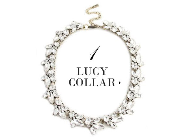 olive + piper Lucy Crystal Statement Necklace