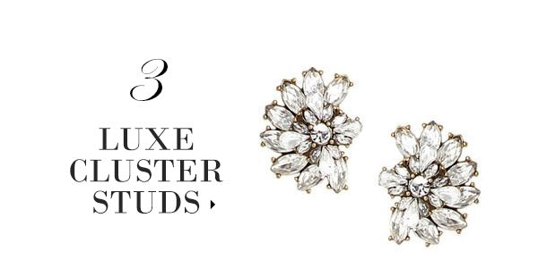 olive + piper Luxe Cluster Statement Stud Earrings