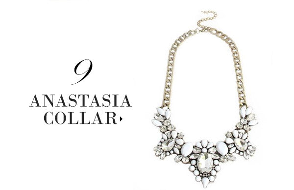 olive + piper Anastasia Floral Statement Necklace