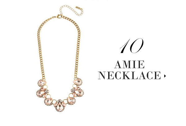 olive + piper Blush Amie Crystal Necklace